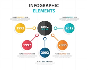 Plantilla elegante infográfica de negocios