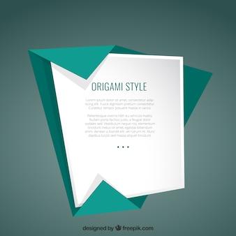 Plantilla en el estilo de origami