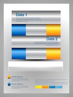 Plantilla infográfica con opciones de datos