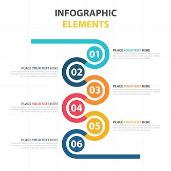 Plantilla infográfica de negocios con elementos circulares