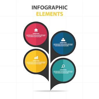 Plantilla infográfica de negocios en estilo de burbuja de texto