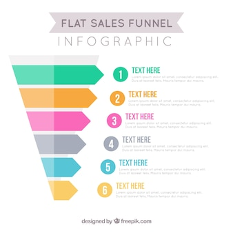 Plantilla infográfica de ventas en diseño plano