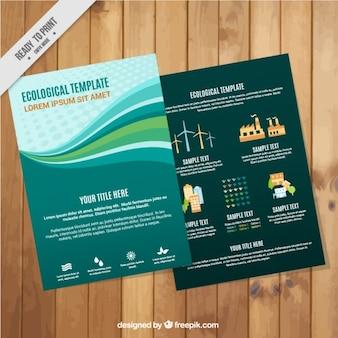 Plantilla infográfica ecológica