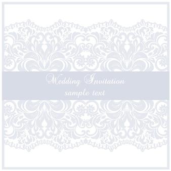 Plantilla invitación de boda con lazo
