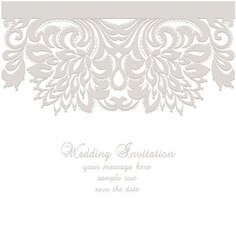 Plantilla invitación de boda elegante