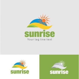 Plantilla Logotipo de la salida del sol