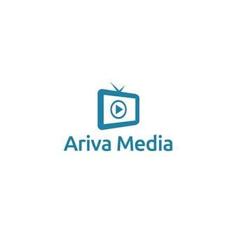 Plantilla logotipo de medios ariva