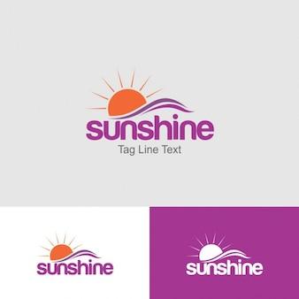 Plantilla Logotipo de sol