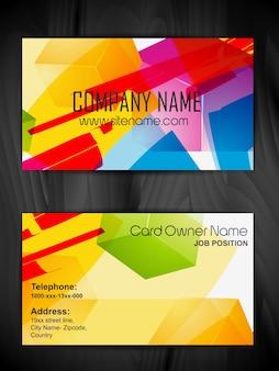 Plantilla moderna colorida de tarjeta de visita