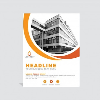 Plantilla naranja de folleto empresarial