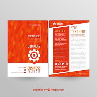 Plantilla para folleto de negocios abstracta
