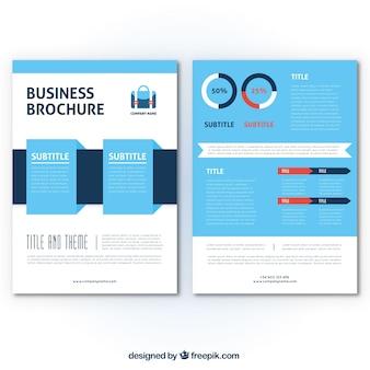 Plantilla plana de folleto para negocios
