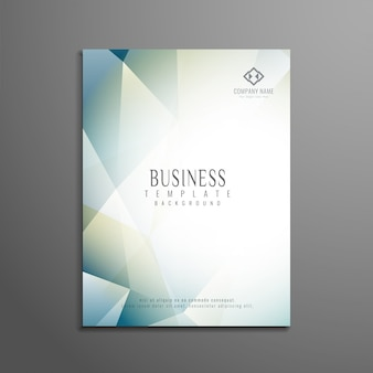 Plantilla poligonal abstracta de folleto de negocio