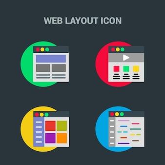 Plantilla web, iconos