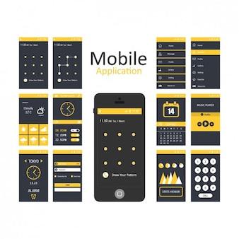 Plantillas de aplicaciones móviles
