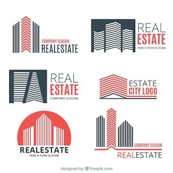 Plantillas de logos de inmobiliarias a color