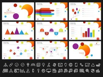 Plantillas de presentación creativas para sus informes de negocios y presentación. Puede ser utilizado como folleto, folleto, diseño de la cubierta.