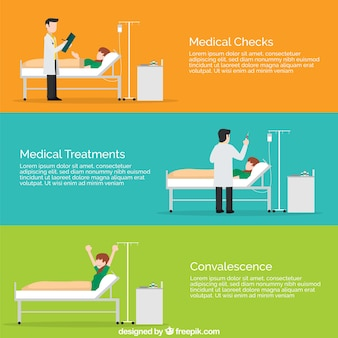 Plantillas planas de situaciones médicas