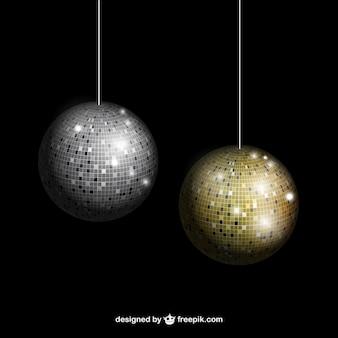 Plata y oro bolas de discoteca