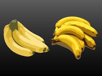 Plátanos, fruta, comida fresca y saludable