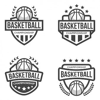 Platilla de logos de baloncesto
