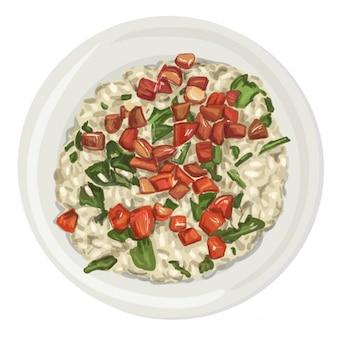 Plato de comida realista