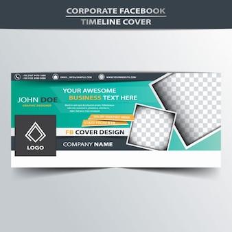 Portada corporativa de línea de tiempo de facebook