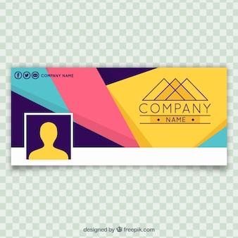 Portada de facebook abstracta de colores de empresa