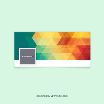 Portada de facebook abstracta de colores