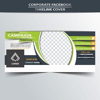Portada de facebook abstracta de negocios