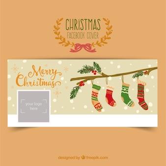 Portada de facebook de calcetines navideños