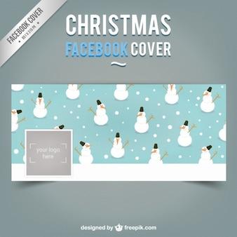 Portada de Facebook de hombres de nieve