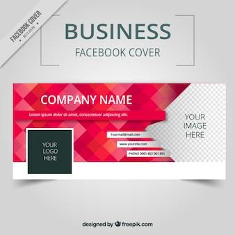 Portada de facebook de negocios con cuadrados