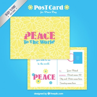 Postal para el día de la paz