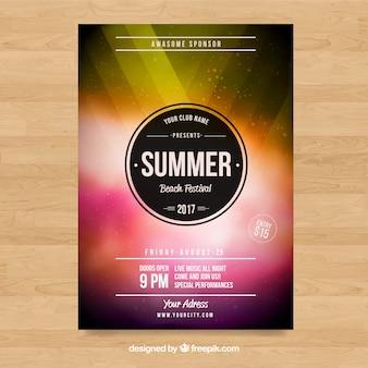 Poster con diseño de fiesta
