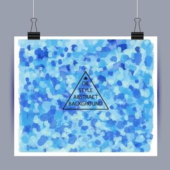 Póster con pintura azul