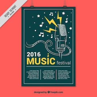 Póster creativo de festival de música