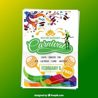 Póster de carnaval en colores brillantes