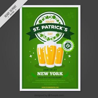 Póster de cervezas del día de San Patrick