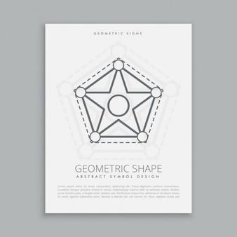 Póster de estrella y pentágono sagrado