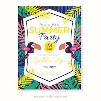 Póster de fiesta de verano