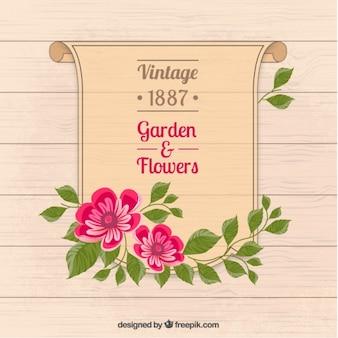 Póster de jardín y flores