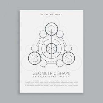 Póster de pequeños círculos sagrados
