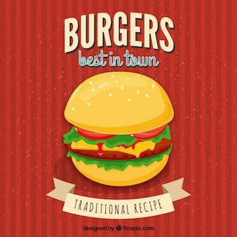 Póster de restaurante de hamburguesas