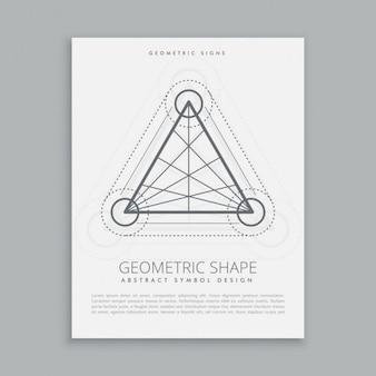 Póster de triángulos y círculos sagrados