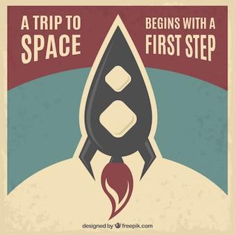 Póster de un viaje al espacio