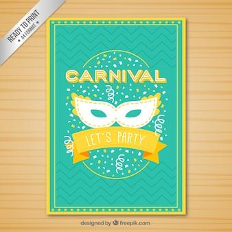 Póster divertido de carnaval en colores vivos