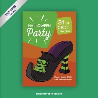 Póster invitación de fiesta de halloween