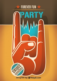 Poster para fiesta de música retro