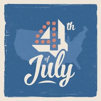 Poster vintage de la independencia de america